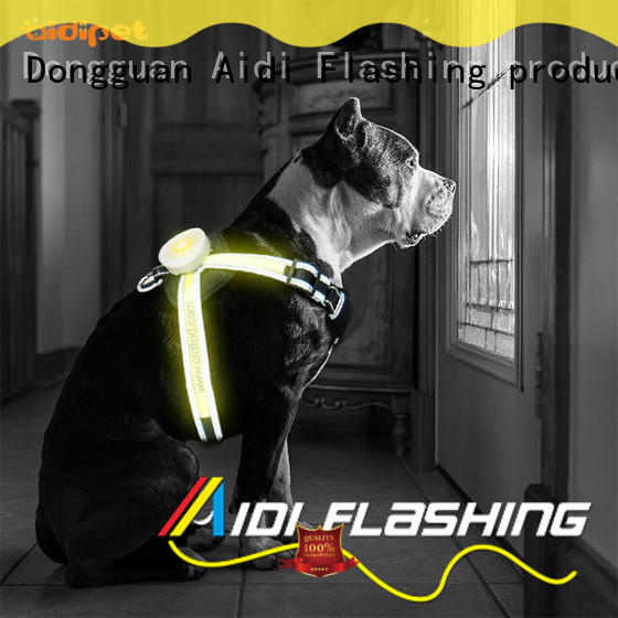 AIDI nylon glowing dog collar manufacturer for outdoors