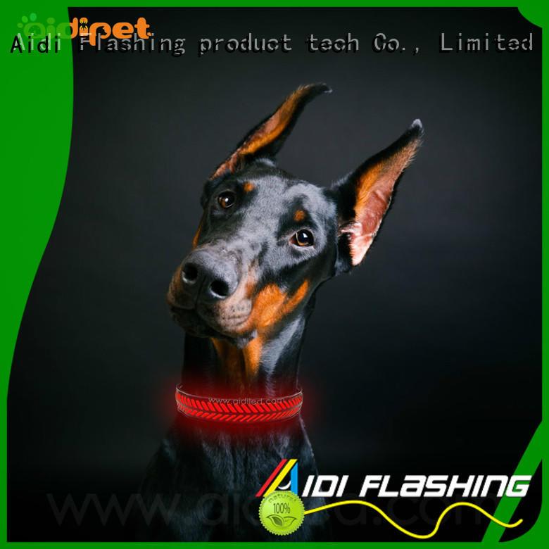 AIDI nylon custom pet collars inquire now for outdoors