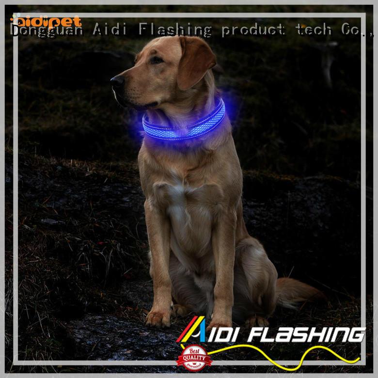buckles flashlight dog collar super for walking AIDI