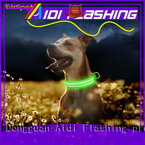AIDI-C17 Metal Buckles USB Rechargeable LED Dog Collar