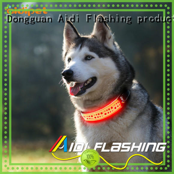 AIDI reflective personalized reflective dog collars inquire now for park