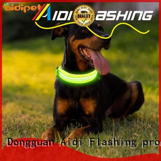 AIDI dog collar led flashing light design for outdoors
