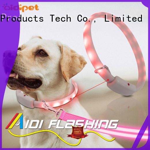 AIDI nylon led dog safety collar factory for walking