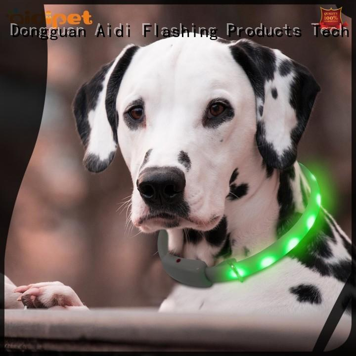 AIDI led flashing dog collar factory for park