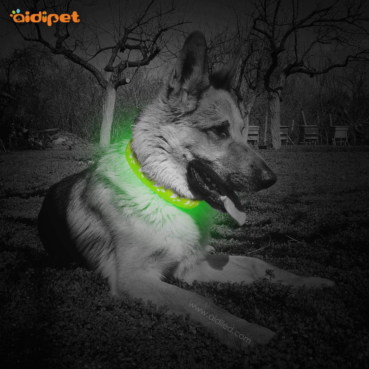 AIDI-Best Waterproof Lighted Dog Collars Wholesale Pet Dog Led Collar-1