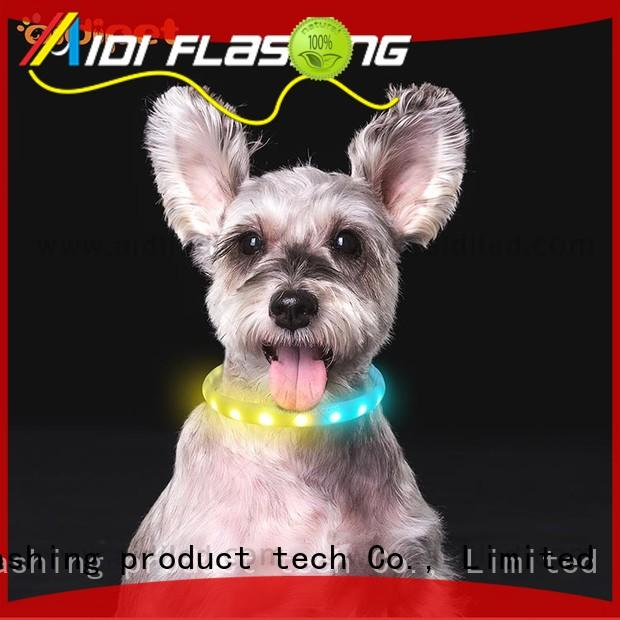 illusion waterproof lighted dog collars design for walking AIDI
