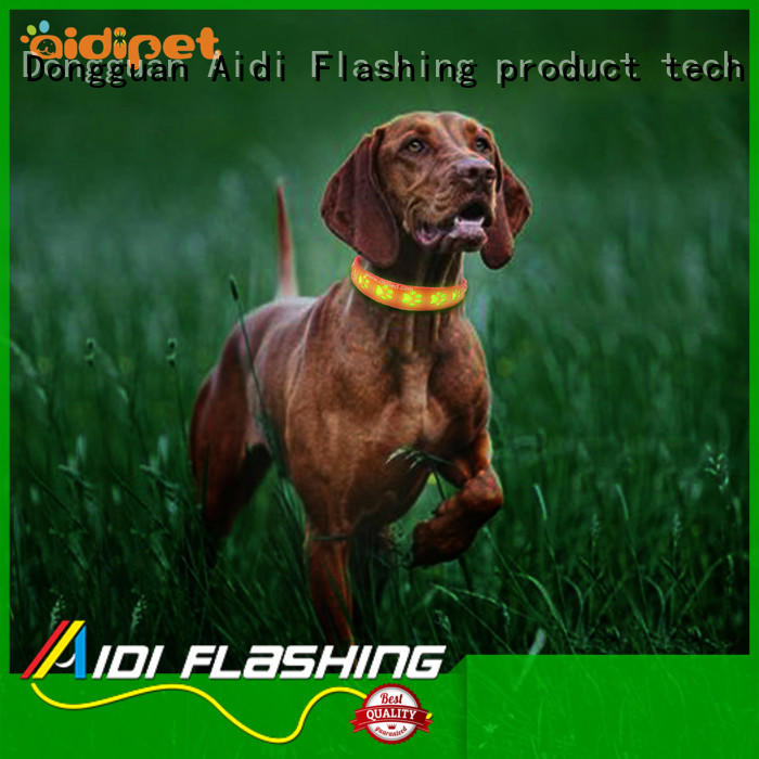 bluetooth rechargeable flashing dog collars supplier for outdoors