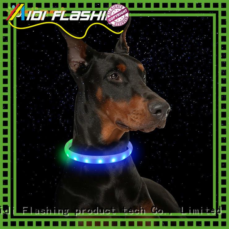 AIDI filament led dog collar design for walking