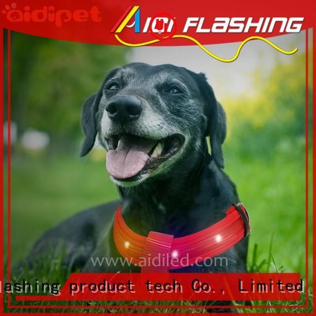 AIDI double illuminated dog harness series for park