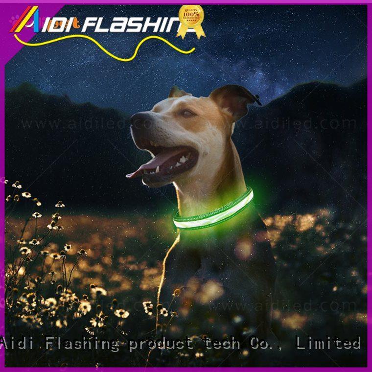 light up dog collar factory for walking AIDI