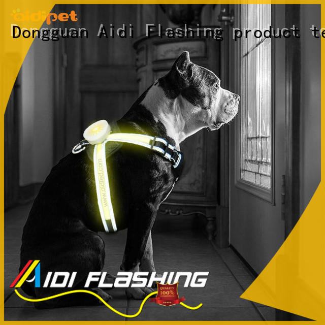 AIDI fishing net led nylon dog harness directly sale for park