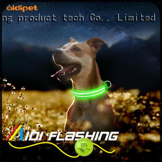 AIDI nylon led dog collars factory for pet