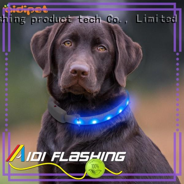 printing usb rechargeable led dog collar with good price for walking AIDI