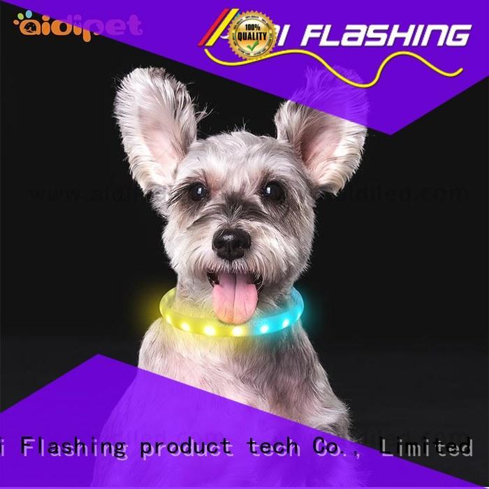 AIDI flashing illusion dog collar design for park