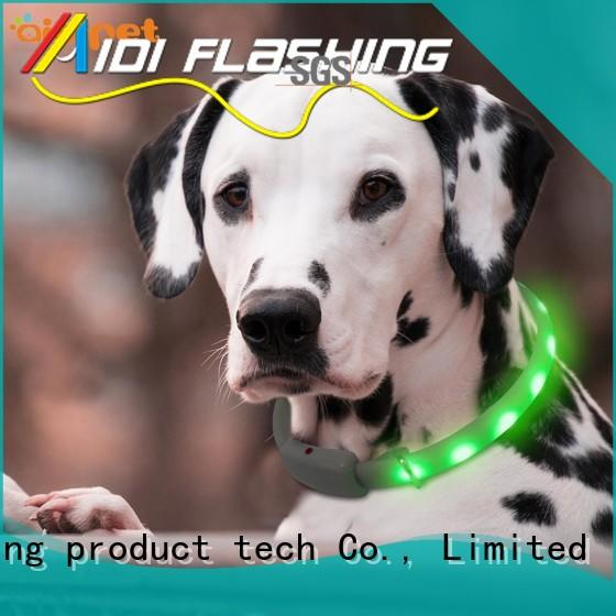 AIDI printing glowing dog collar design for walking