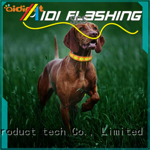 AIDI glowing reflective dog collars design for walking