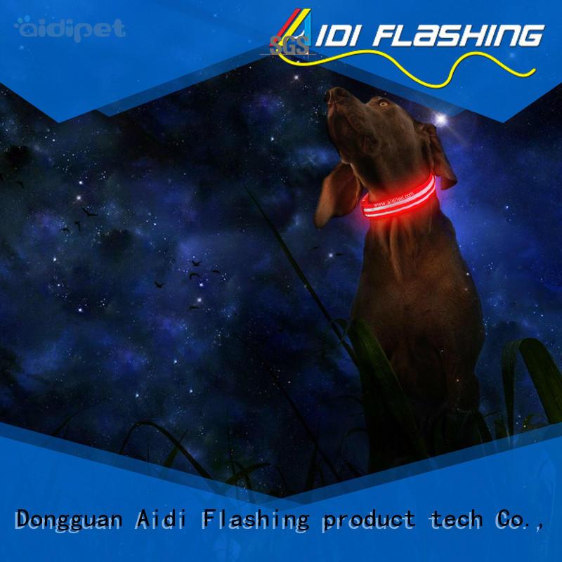 AIDI led dog collar waterproof design for pet