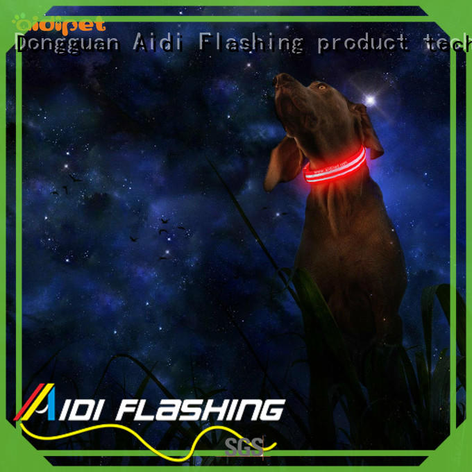 AIDI flashing lighted dog collars inquire now for outdoors