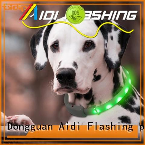 AIDI waterproof lighted dog collars factory for outdoors
