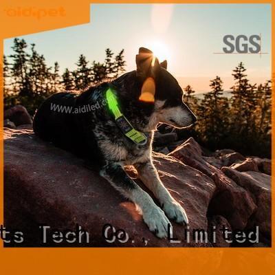 AIDI led flashing dog collar design for outdoors