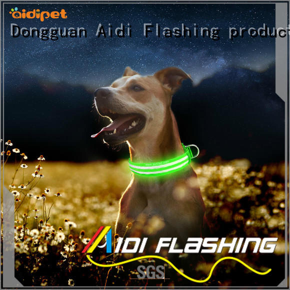 AIDI remote led light for dog collar for pet