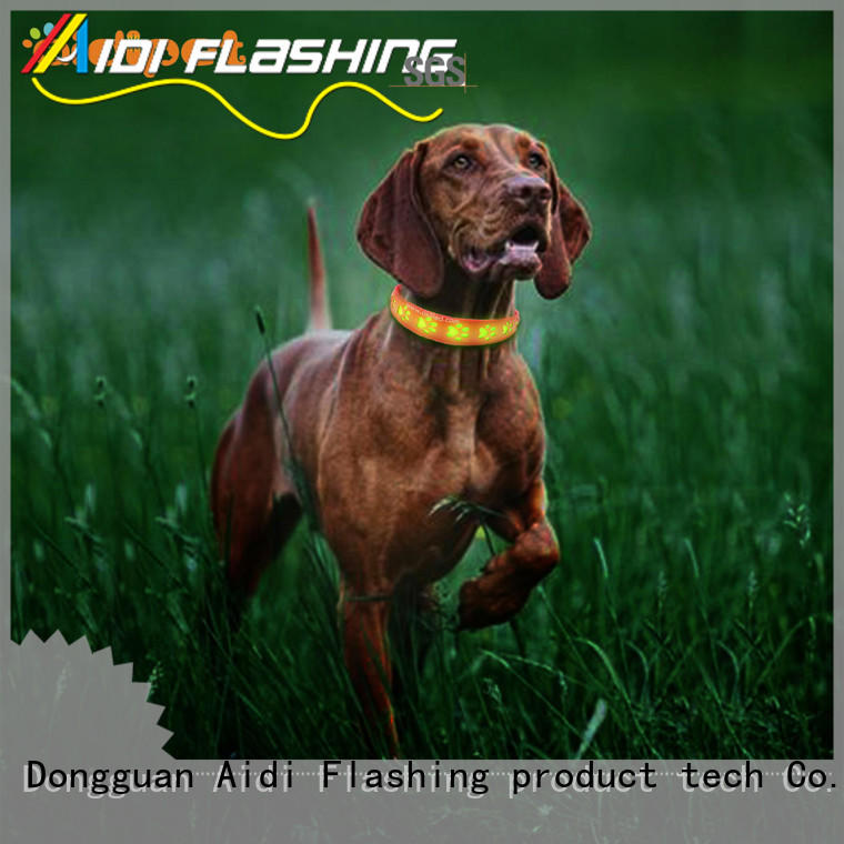glowing led flashing dog collar with good price for pet