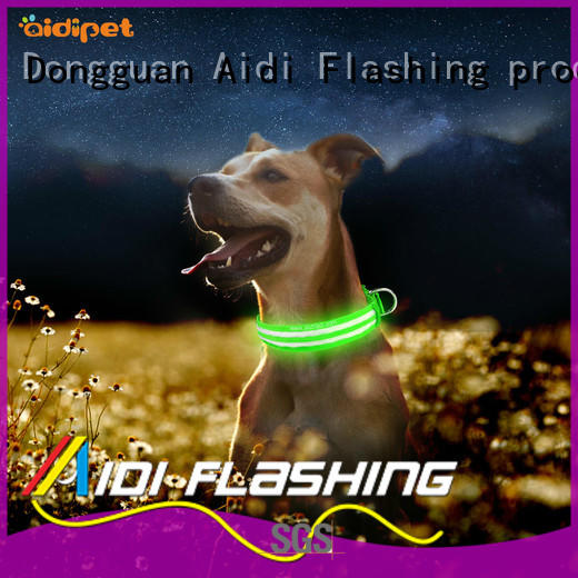 nylon glowing dog collar with good price for park