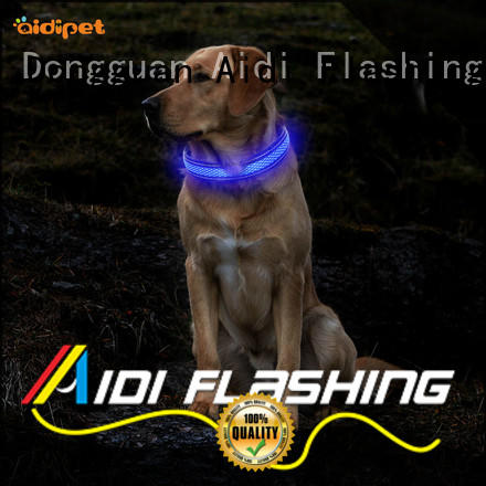 AIDI remote best led dog collar lighted for walking