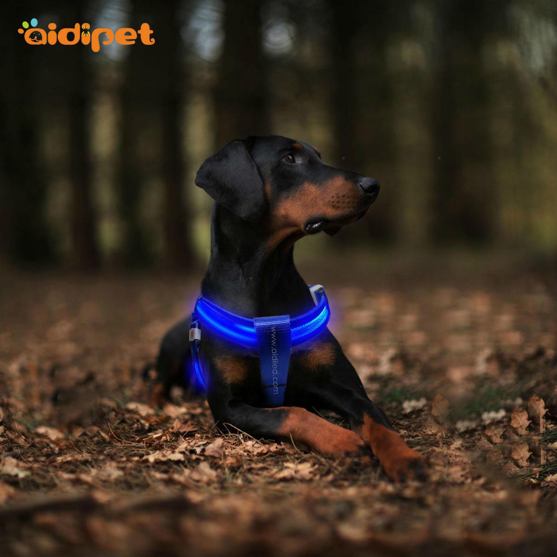 AIDI nylon glow in the dark dog harness for pet-2