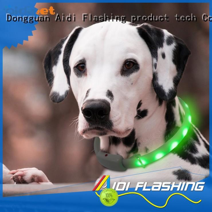 nylon waterproof flashing dog collar design for walking AIDI