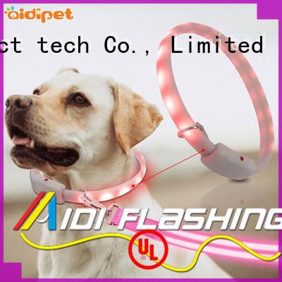 glow waterproof glow in the dark dog collar personalized for pet AIDI