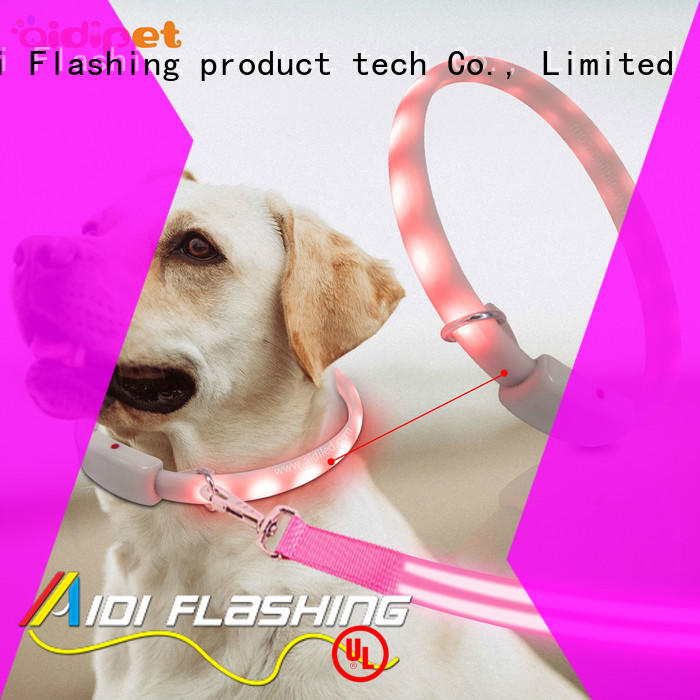 printing night time dog collars with good price for park