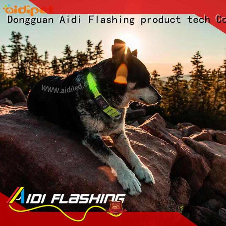 dog collar lights waterproof glow for outdoors AIDI