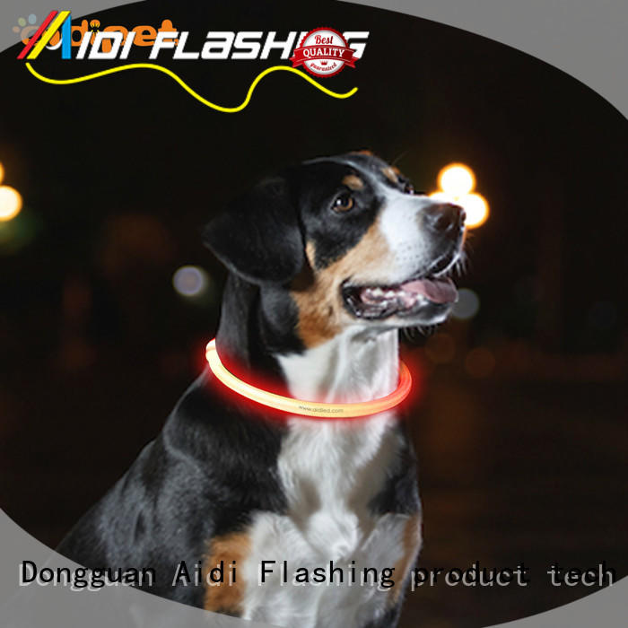 silicone led dog collars design for park