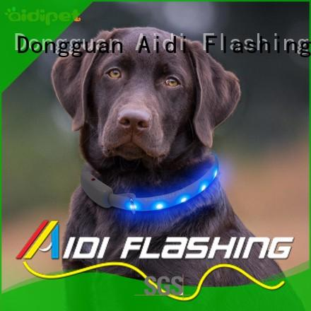 durable glow in the dark dog collar design for walking