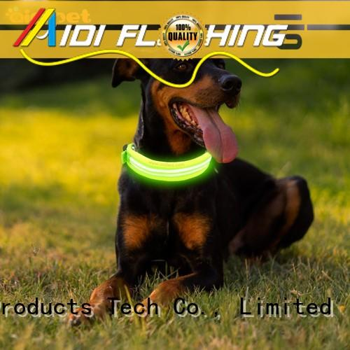 AIDI nylon led dog collar inquire now for outdoors