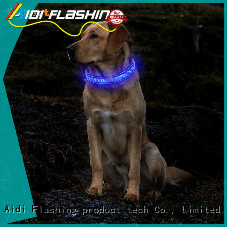 AIDI night dog collar with good price for park