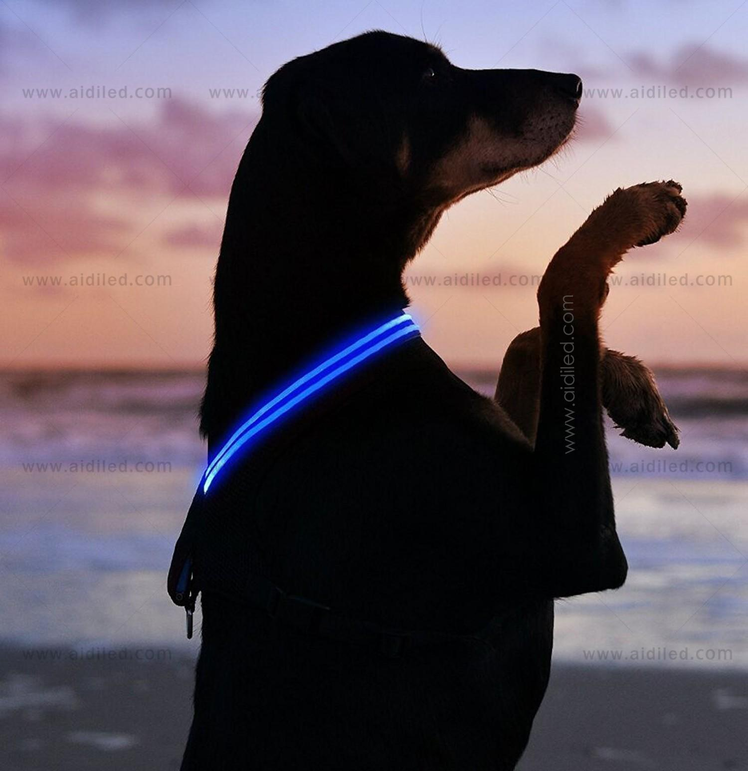 AIDI light up dog harness manufacturer for outdoors-3