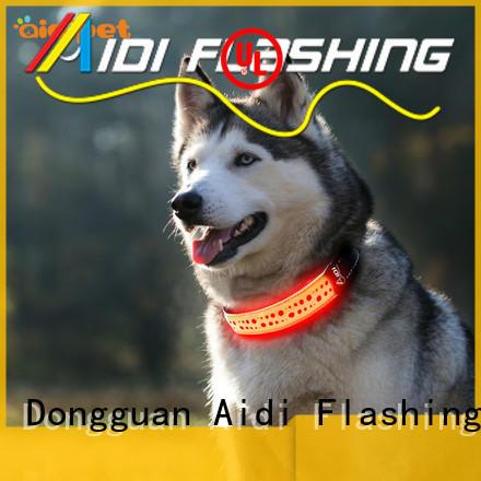 AIDI nylon dog christmas collars with lights customized for walking