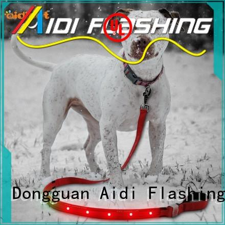 AIDI fishnet led light dog leash design for walking