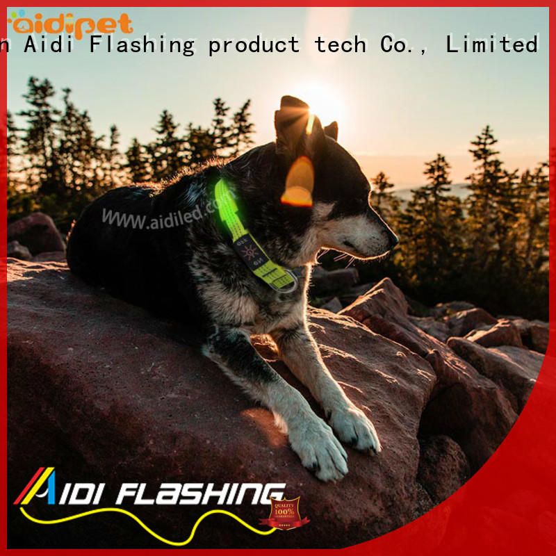 illuminated dog collar with good price for pet AIDI