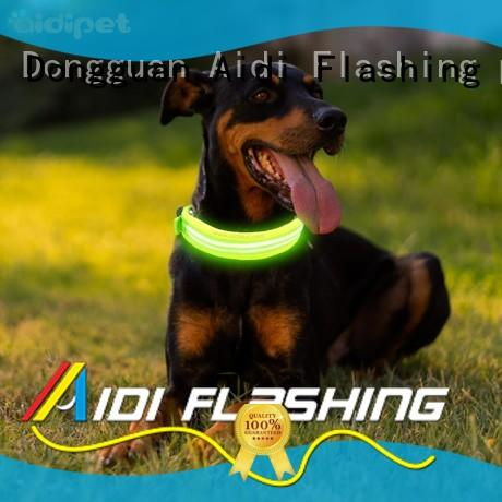AIDI glow in the dark dog collar inquire now for park