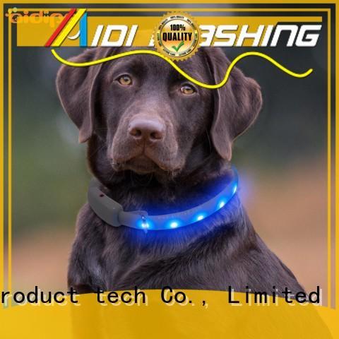 led RGB light up dog collar rechargeable AIDI-C7