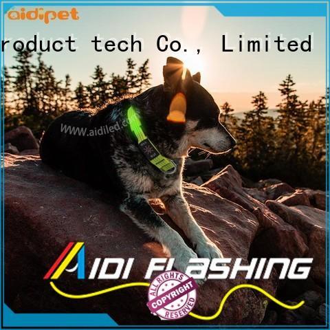 AIDI nylon led dog collars flashing for park