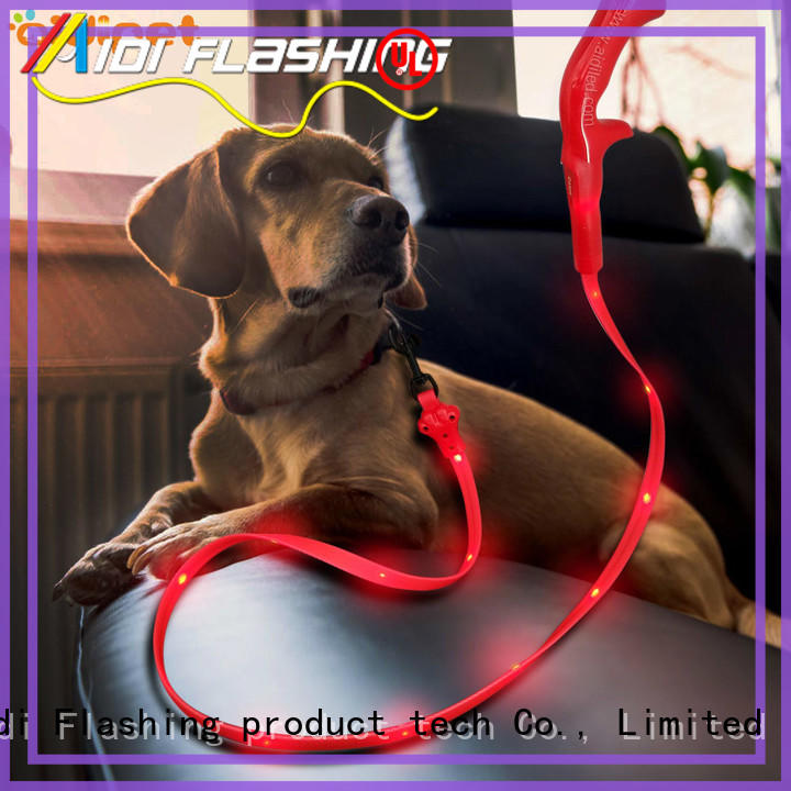 rechargeable light pink dog leash customized for pet AIDI