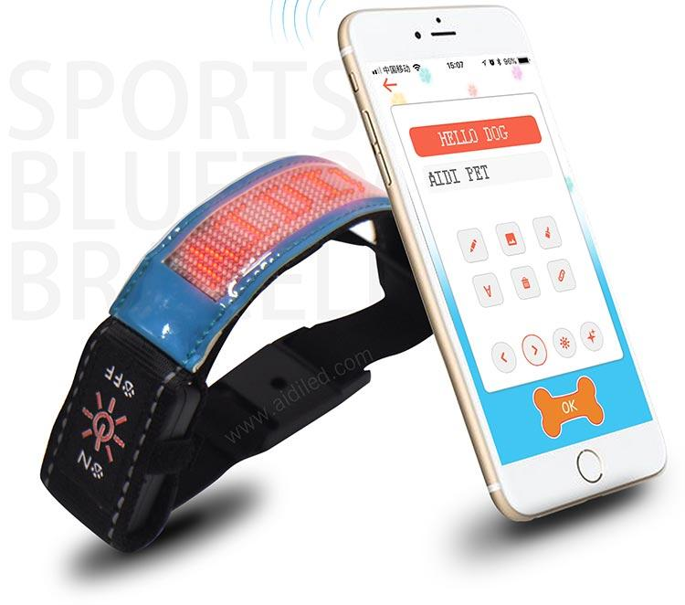 Led Screen Bluetooth Controlled Outdoor Sports Reflective Armbands AIDI-S20-3