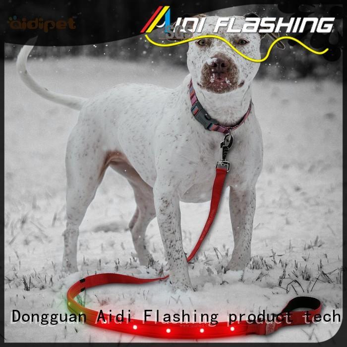 Rainbow Light  Nylon Rechargeable Led Dog Leash AIDI-L2