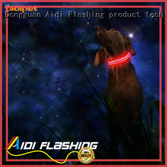 dog collars that light up at night pet AIDI