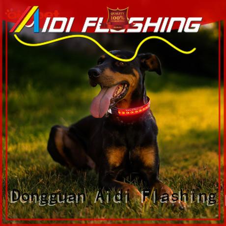 AIDI nylon luminous flashing dog collars with good price for outdoors