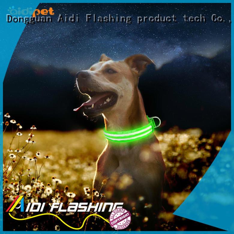 light logo AIDI Brand led light for dog collar